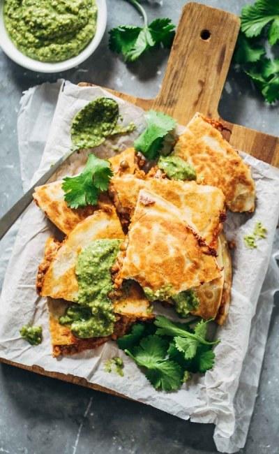 Quick and Easy Lentil Quesadilla