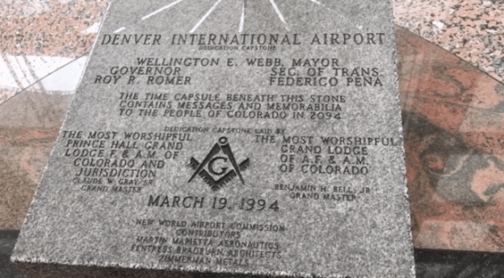 """The airport was dedicated on March 19, 1994, and a capstone was placed inside the airport to memorialize it. This dedication stone displays the Masonic symbol of a compass with a capital G inside. Underneath the symbol, the """"New World Airport Commission"""" is credited with helping fund and build the airport.What is the """"New World Airport Commission""""? Airport officials have said that it was a commission for the new """"world airport,' but the wording calls to mind the New World Order conspiracy. New World Order conspiracists believe that there has been a small group of powerful people working together in secret throughout history toward establishing a single all-powerful global government. The Masonic symbol ties into this conspiracy. Freemasonry is a very real secret fraternal society that's allegedly the largest in the world and may have existed as far back as the Middle Ages. Since this secret society has had many powerful members throughout history, people have long been suspicious that the Freemasons were looking to seize power. Perhaps they are involved in trying to establish the New World Order?Not helping things: Conspiracy theorists have pointed out that if you add up the numbers in the airport's dedication date, you get 33, which is reportedly the highest level of Freemasonry. More helpful: This only works if you leave out """"March,"""" making it kind of a stretch."""