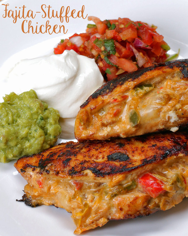 Fajita-Stuffed Chicken