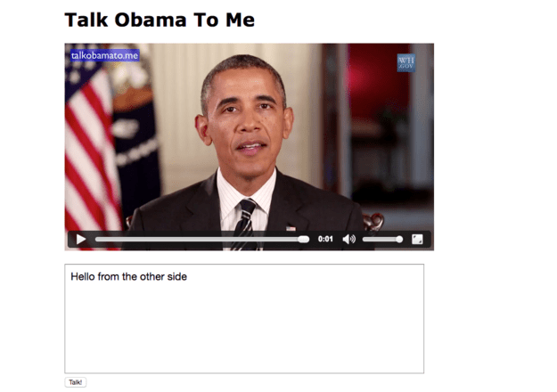 Talk Obama To Me Lets You Make The President Say Crazy