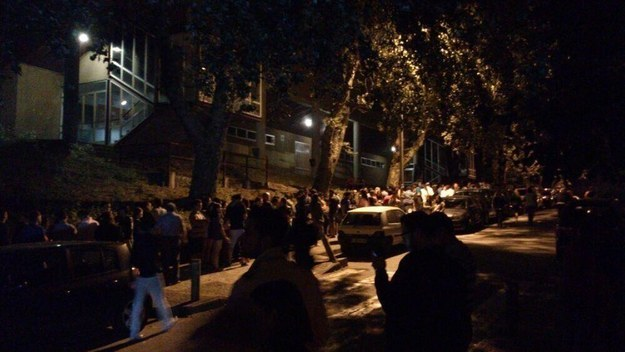This queue to donate blood at 2 a.m. in Santiago de Compostela, after the train crash that killed 79 people in July 2013.