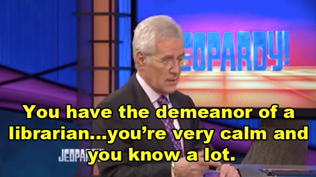 Alex Trebek, host of the long-running trivia show, chatted it up with Miles to learn a bit more about the contestants.