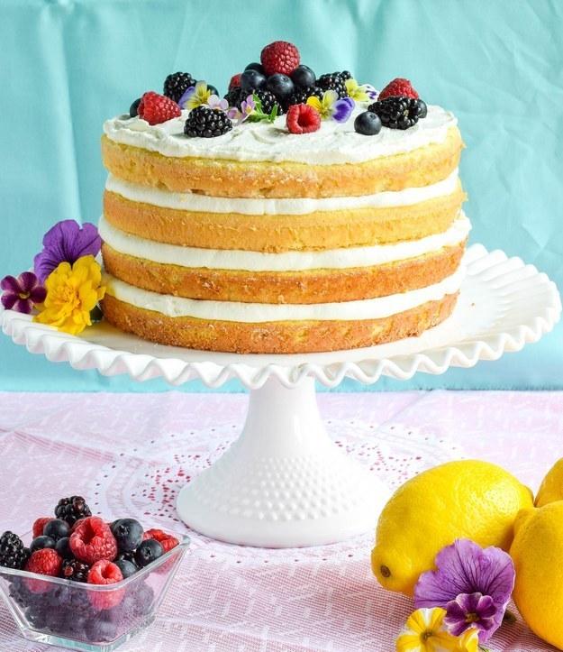 Ricotta Lemon Burst Sponge Cake