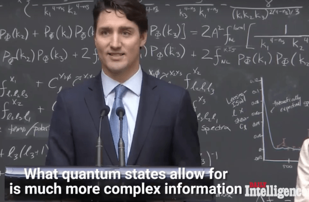 The video quickly went viral, as Trudeau appeared to explain the concept perfectly.
