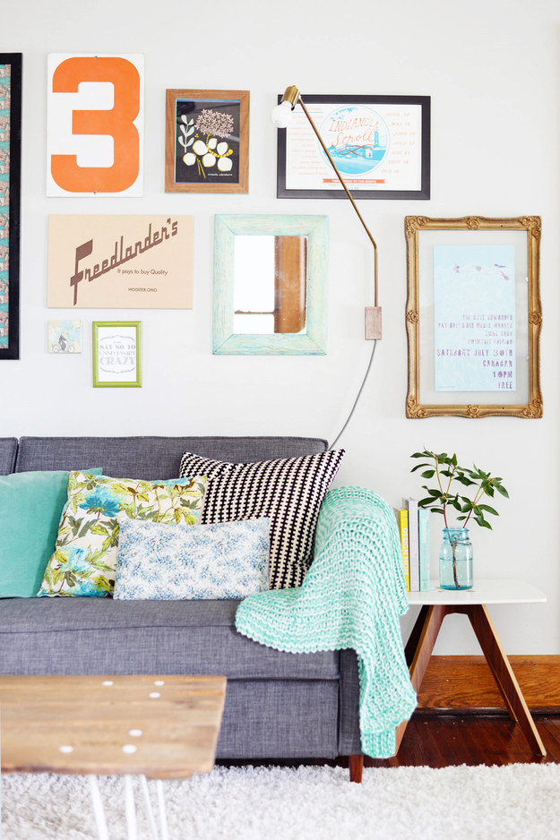 Hang a gallery wall made up of all your favorite prints.