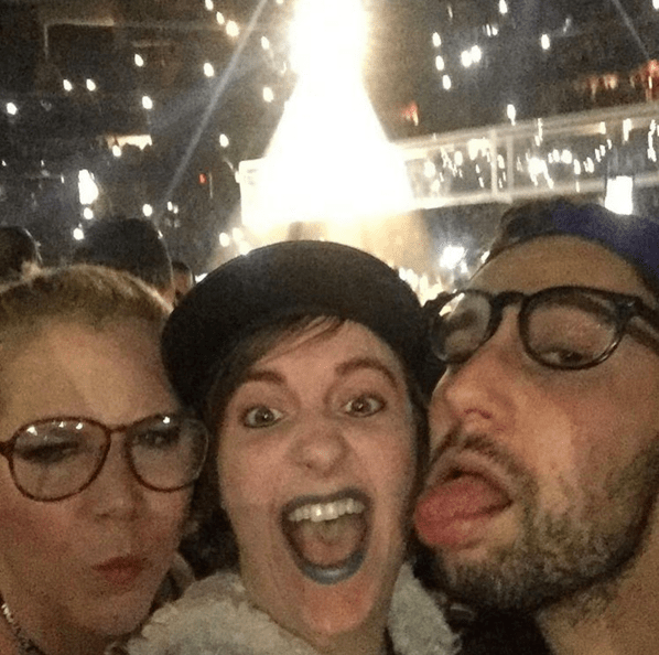 Amy Schumer and Lena Dunham fabulously hit up Rihanna's concert in Newark, New Jersey.