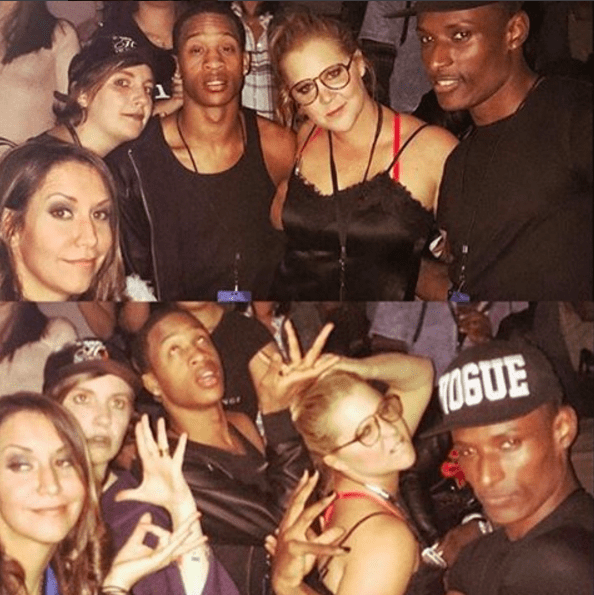 Amy and Lena also took pictures with Rihanna's background dancers.