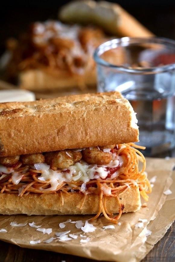 Shrimp Parmesan Sandwiches