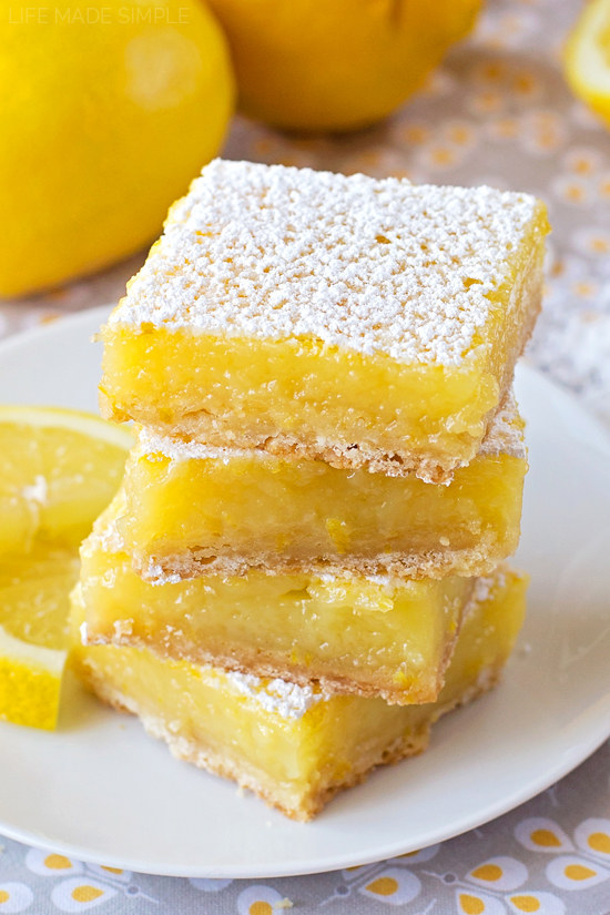 Because what is loving lemon, without lemon bars? Recipe here.