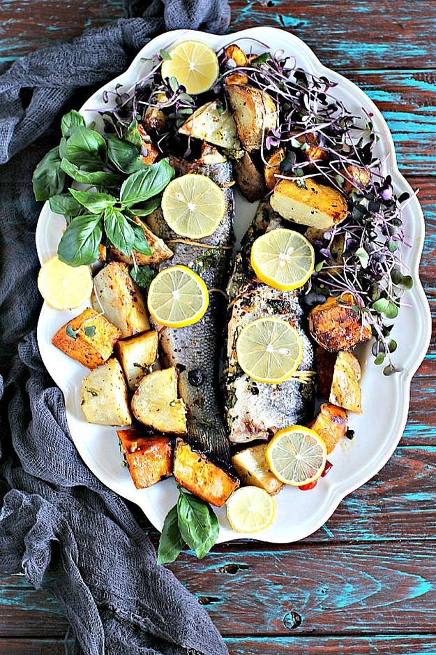 One Pan Oven Roasted Whole Branzino