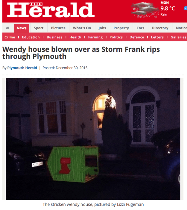 This storm chaos: