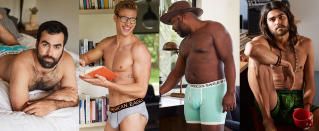 The company said the campaign was a body-positive approach to male underwear, and included men of different body types.