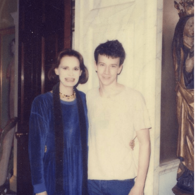 Anderson Cooper posted this photo of him and his mom — from before he became a silver fox.