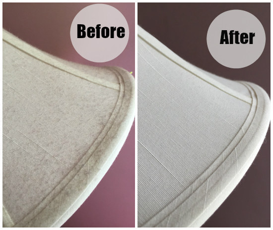Dust the lampshades in your bedroom using a lint roller.