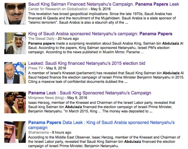 Several English-language websites in the Middle East and at least one big American blog fell for a fake story that claimed Saudi King Salman bin Abdulaziz Al Saud financed Israeli Prime Minister Benjamin Netanyahu's re-election campaign to the tune of $80 million.