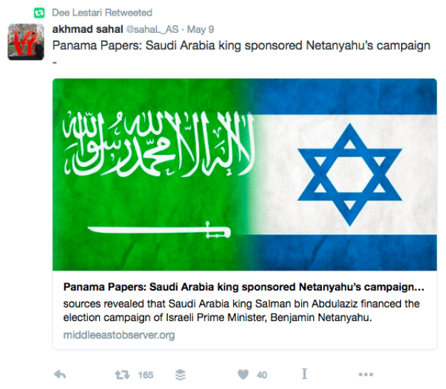 Author Dee Lestari retweeted the original fake to her nearly 1.5 million followers.