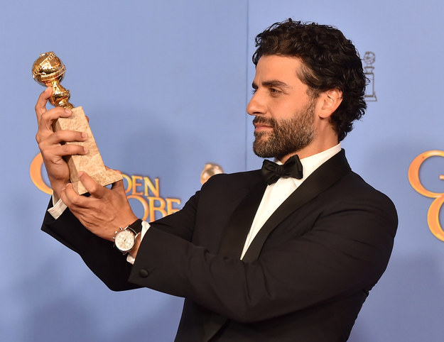 Sometimes he gazes appraisingly at his Golden Globe and thinks of awards to come.