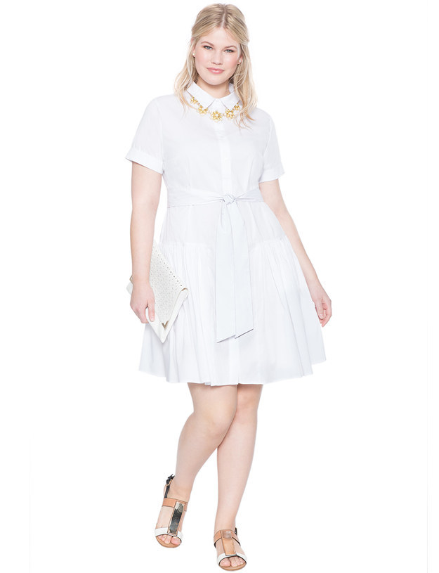 This chic but relaxed belted shirtdress.