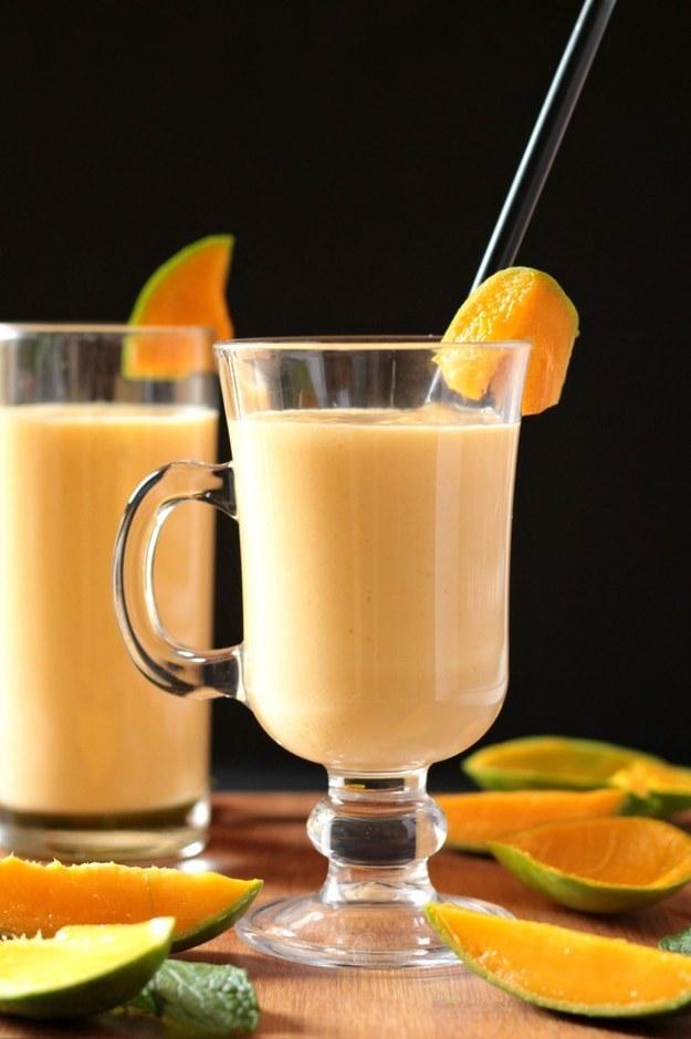 Thick Creamy Mango Milkshake