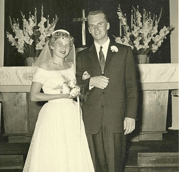 Wagnor is very close to her grandparents, who lived nearby when she was growing up. She said she remembers seeing a photo of her grandmother in her wedding dress in their home as a child, and dreamed about wearing the gorgeous gown when she was old enough.