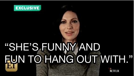 Laura Prepon wasn't afraid to be specific and chose the hilarious Nicky Nichols.