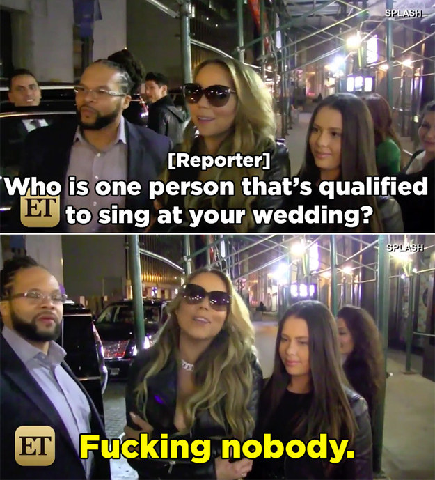 And when asked who would be qualified for such an honor, Mariah's response was so...MARIAH.