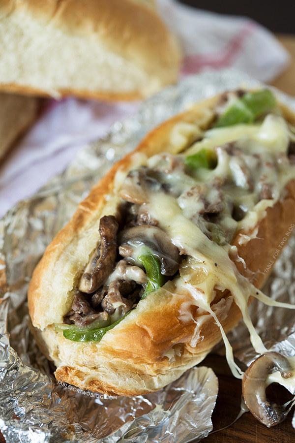 Portobello Mushroom Cheesesteak Sandwiches