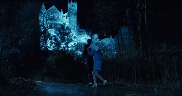 The trailer contains some pretty accurate throwbacks to the original, like the opening shot of Janet and Brad approaching the castle.