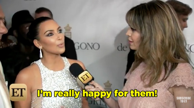 """Kim seemed super enthusiastic about the pregnancy saying, """"It's so exciting. It's a really exciting time for him."""""""