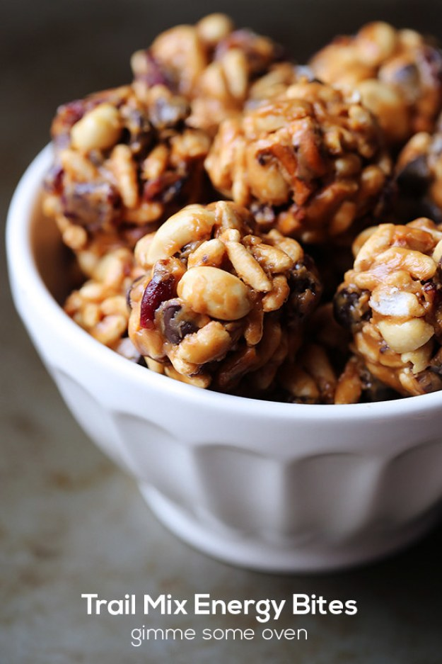 Sweet and Salty Trail Mix Energy Bites