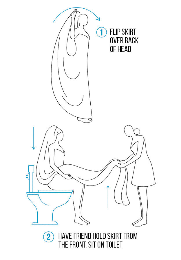 Here's The Best Way To Pee In Your Wedding Dress Without