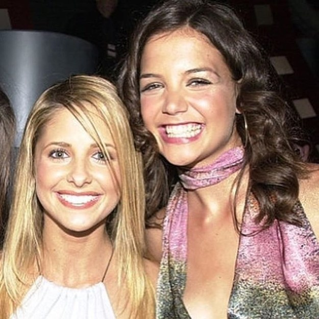 Sarah Michelle Gellar shared this pic of herself hanging out with Katie Holmes in the early 2000s.