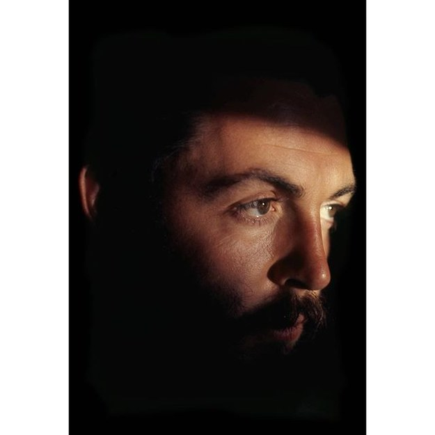 Paul McCartney posted this kind of intense photo of himself from the 1970s.