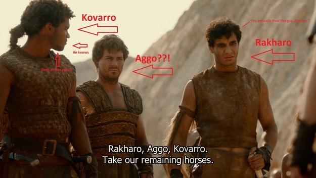 Who cares, right? WELL. As Redditor NANAs_Mic points out, Aggo was the name of one of Dany's men back in Season 2.