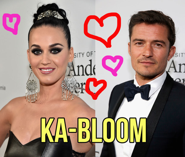 This is Katy Perry and Orlando Bloom: two very pretty people who are dating.