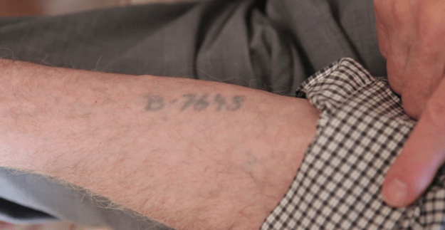 """""""The Germans slammed the arm onto a table, and with a hypodermic needle, every little dot was injected until it became, in my case, the number B-7648."""""""