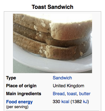 This has an actual Wikipedia page, and a history, and is a thing that has appeared in cookbooks, and it's somehow the most British food of all time.
