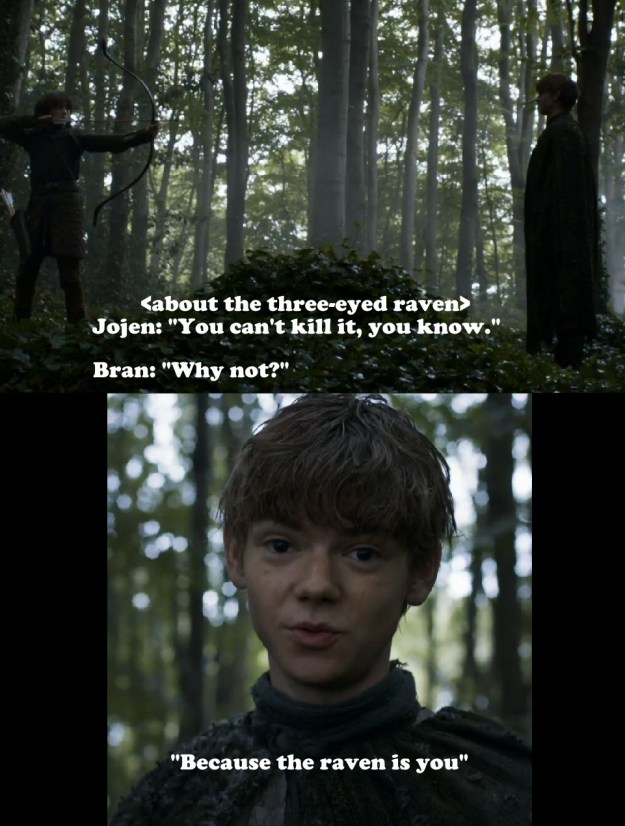 The crazy nature of time travel on Game of Thrones now has some fans wondering: Was this quote from Jojen Reed in Season 3 more literal than we thought?