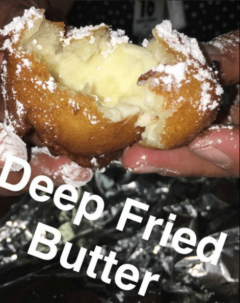 Whereas the most American food is probably deep-fried butter.