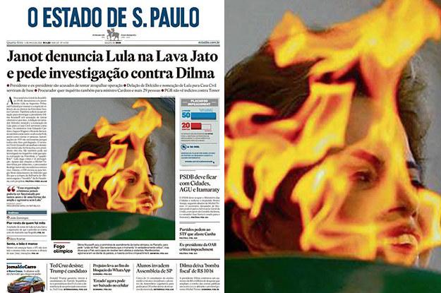 Resultado de imagem para dilma capa da veja fogo