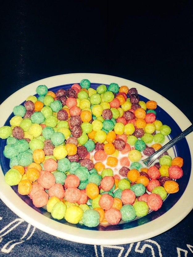 Cereal tastes better at night: