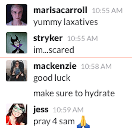 Some of my co-workers were supportive of the journey I was about to undertake:
