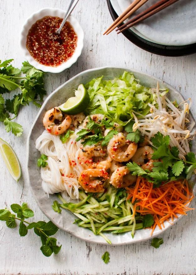 Garlic Shrimp Noodle Salad