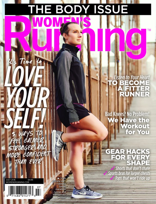 Recently, she became the first transgender woman to be featured on the cover of the running magazine, Women's Running.