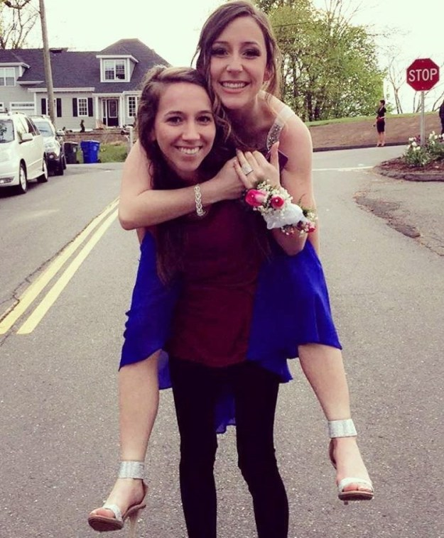 This is Emily Petrozza, a 21-year-old resident of Newington, Connecticut, and Lauren, her 17-year-old sister.