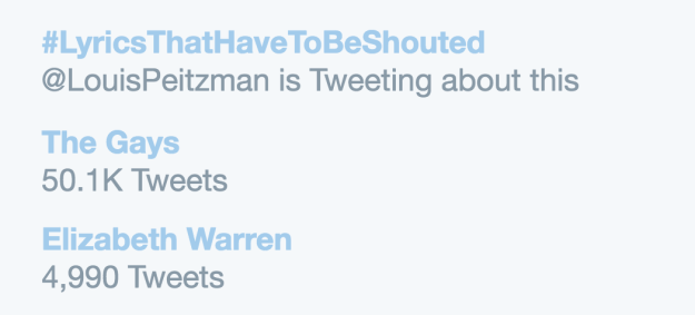 "The hypothetical question soon hit Twitter, where ""The Gays"" had so many answers, they were trending."