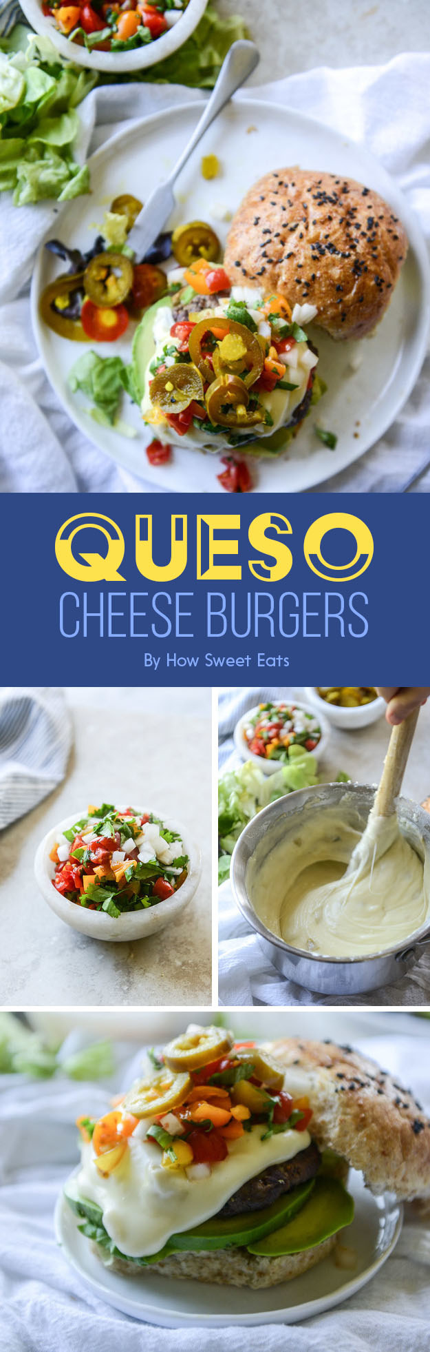 Queso Cheese Burgers