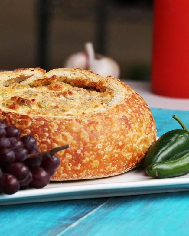 Jalapeño Popper Dip Bread Bowl