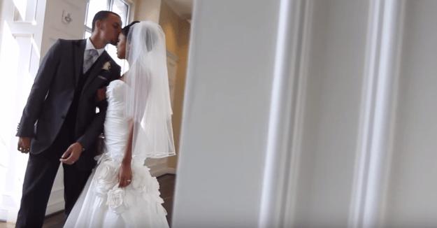 When he married his wife and high school sweetheart, Ayesha.