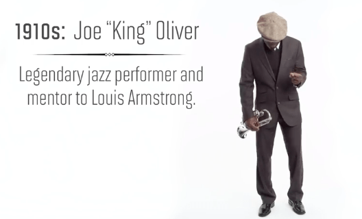 "In the 1910s, Joe ""King"" Oliver took the jazz scene by storm and was a mentor to other icons like Louis Armstrong."